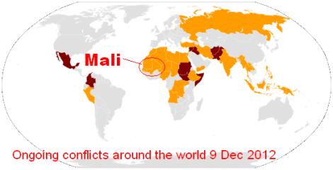 Ongoing conflicts around the world 9 Dec 2012