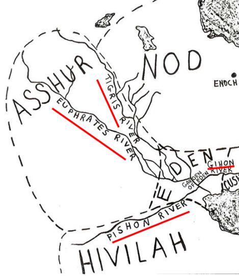 4 rivers of garden of eden