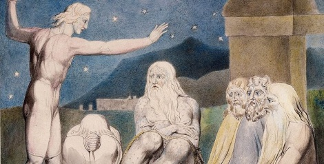 The Wrath of Elihu 1805 by William Blake